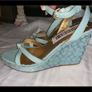 MADE in Italy Coach pastel wedges